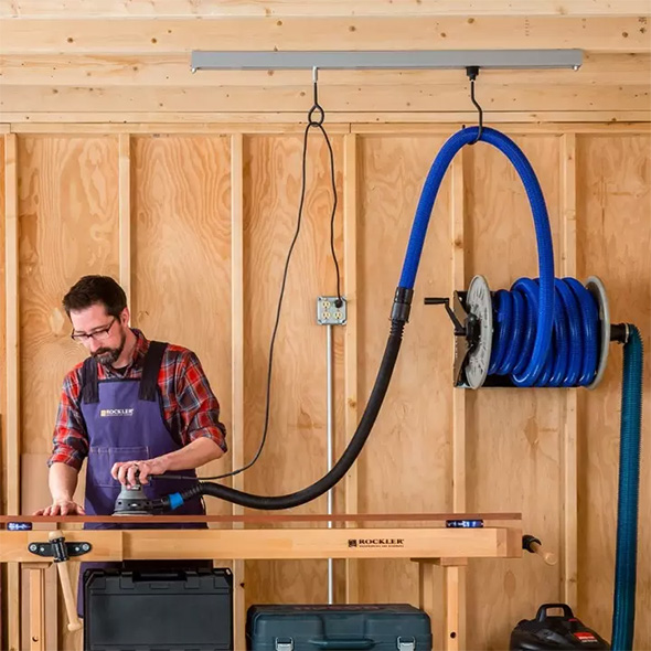 Rockler Ceiling Track System in Use