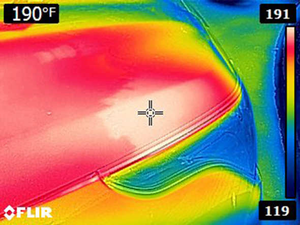 Thermal Image of Car Hood