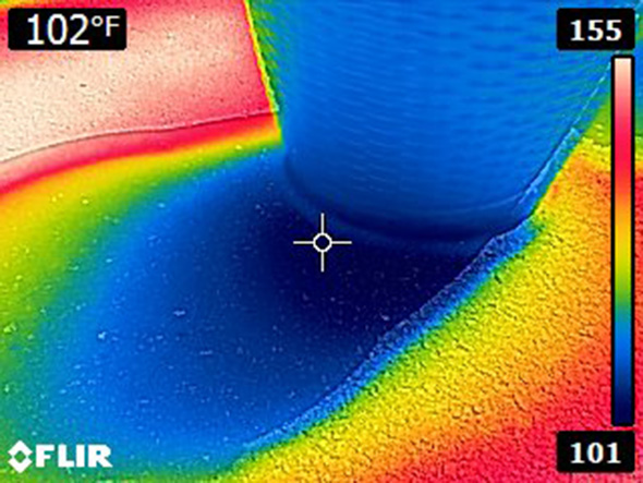 Thermal Image of Planter Shadow