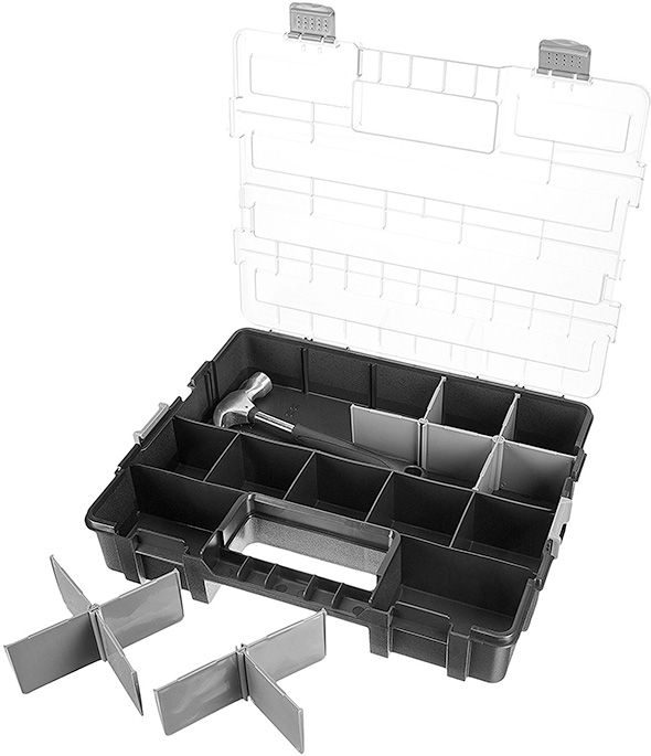 Amazon Basics Adjustable Parts Organizer