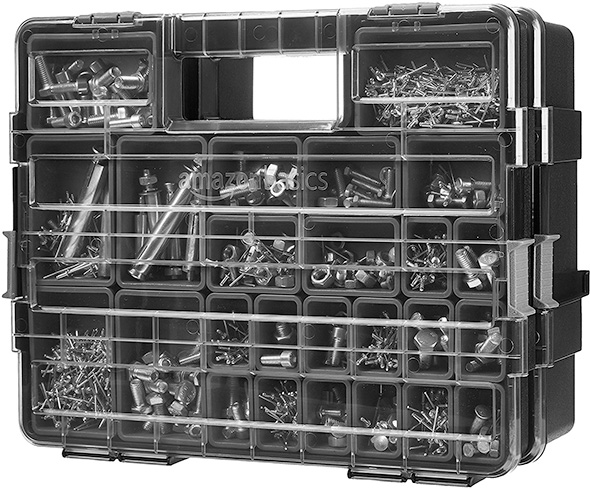 Amazon Basics Parts Organizers Connected