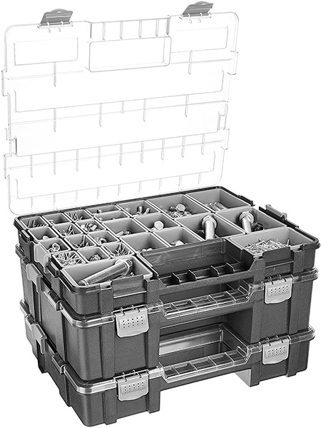 Amazon Basics Parts Organizers Stacked