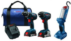 Deal of the Day: Bosch 18V Drill, Impact Driver, LED Worklight Kit (8/14/2018)