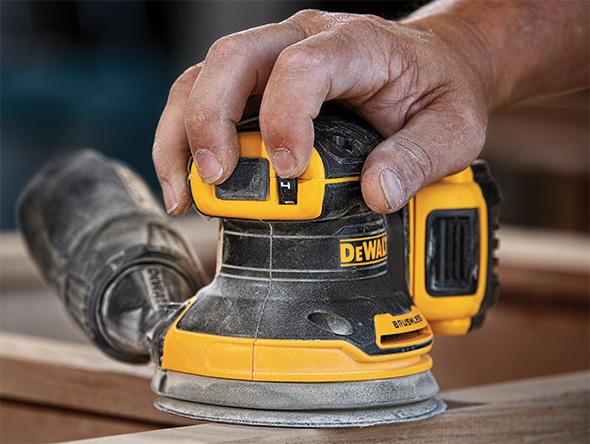 Dewalt Cordless Sander DCS210 Top Grip and Speed Dial