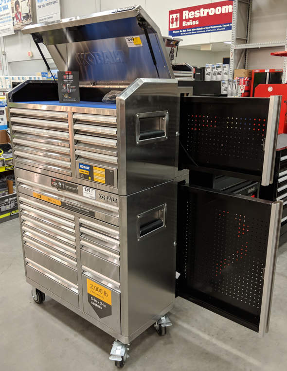 Kobalt Tool Cabinet >> New Kobalt 41 Toolboxes With Slide Out Pegboard