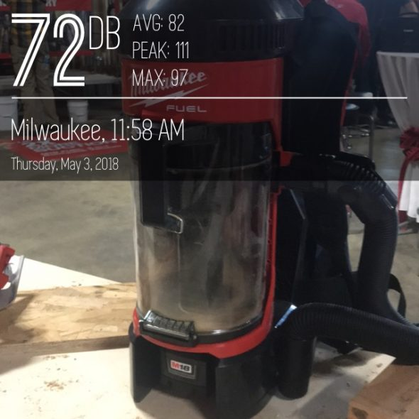 Milwaukee-M18-3in1-vaccum-decibels