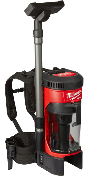 Milwaukee M18 Fuel BackPack Vacuum closer look at accessory storage