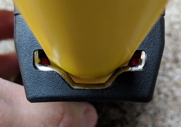 Milwaukee Stud Tape Measure mouth closeup