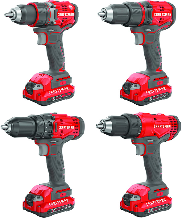 New Craftsman V20 Cordless Drills for 2018