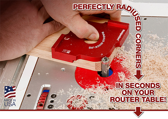 Woodpeckers Radius Quick Jig One Time Tool Set