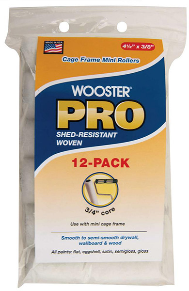 Wooster Pro Mini Roller Cover 12-Pack
