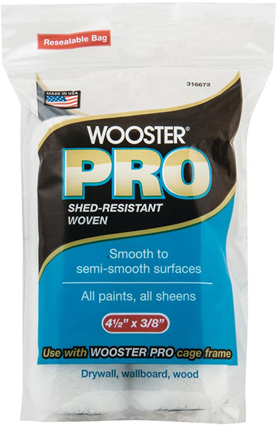 Wooster Pro Mini Woven Roller Cover 2-Pack