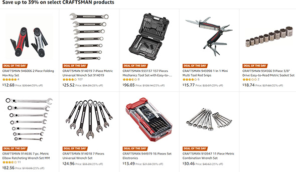 Craftsman Deals of the Day at Amazon 09122018
