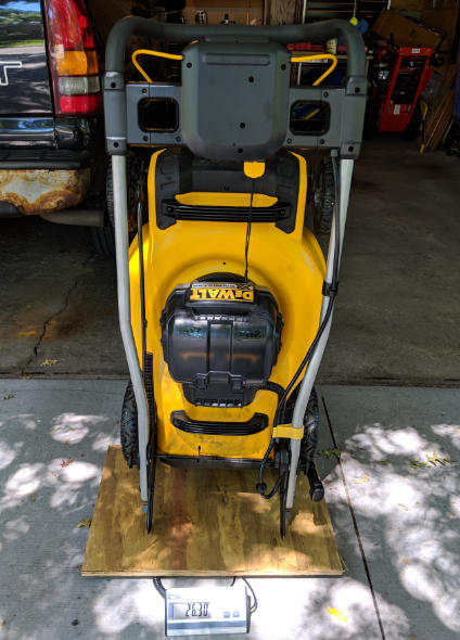 Dewalt 2x20V Brushless Push Lawn Mower weight