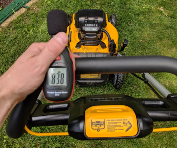 Dewalt 2x20V mower sound pressure level