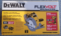 Dewalt FlexVolt Circular Saw and Impact Driver Kit Bundle Box