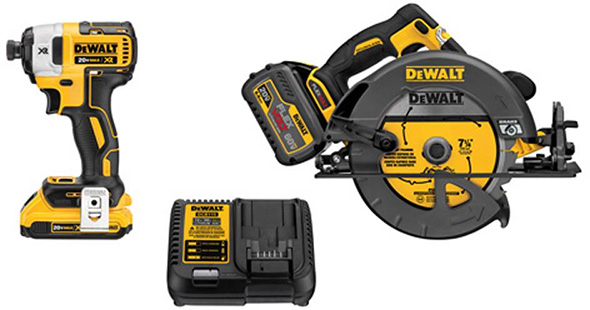 Dewalt FlexVolt Circular Saw and Impact Driver Kit Bundle