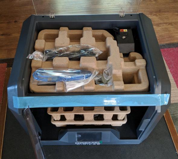 Dremel 3D45 internal cardboard packing trays