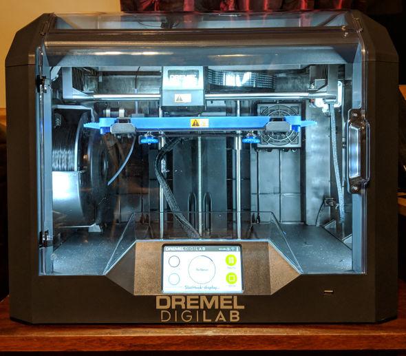 Dremel Digilab 3D45 3D Printer at My Computer Desk