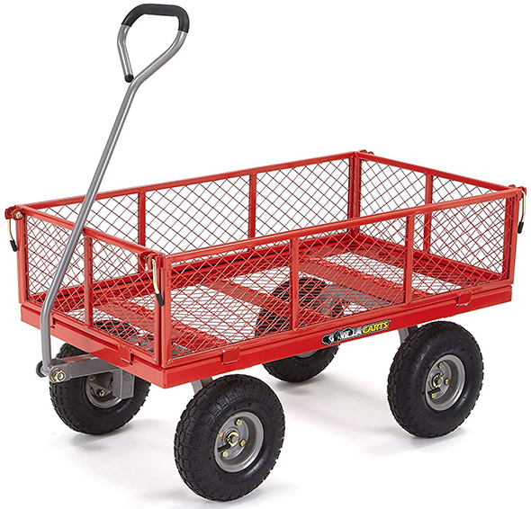 Gorilla Carts Utility Cart 800 lbs in Red