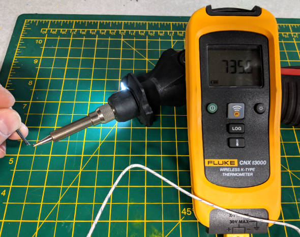 Milwaukee M12 Soldering Iron Max Temp Measurement