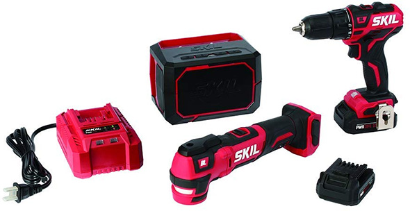 Skil PWRCore Drill Oscillating Multi-Tool and Bluetooth Speaker Kit