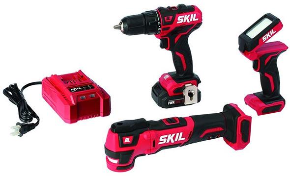 Skil PWRCore Drill Oscillating Multi-Tool and LED Flashlight Kit