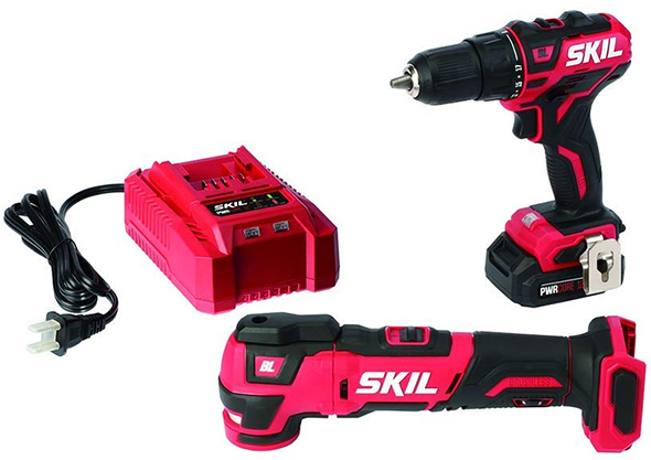 Skil PWRCore Drill and Oscillating Multi-Tool Combo Kit