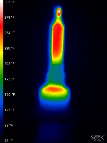 Thermal Image of Milwaukee M12 Soldering Iron