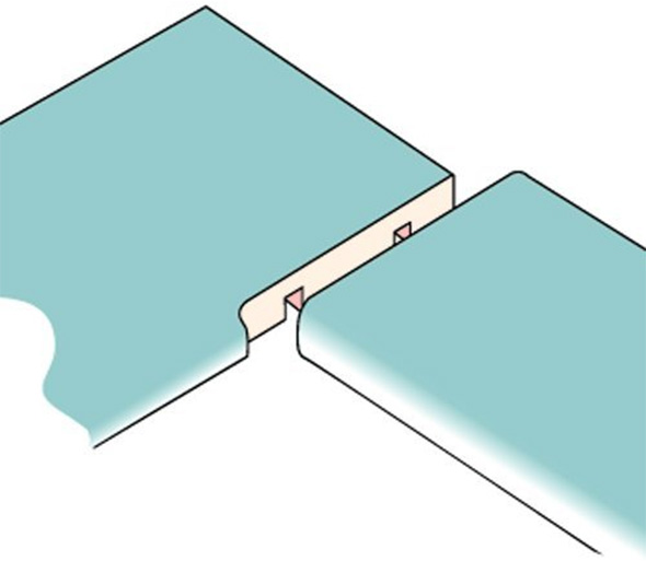 Trend Jig Countertop Seam Joint Example