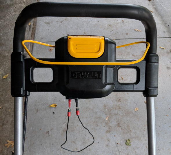 Dewalt 2x20V mower bypassing the safety key