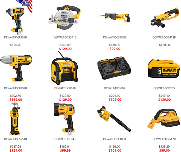 Dewalt Free Bonus Bare Tools Promo Selection