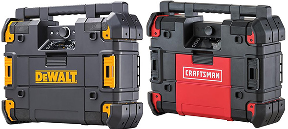 Dewalt vs Craftsman Tstak Bluetooth Radio Comparison