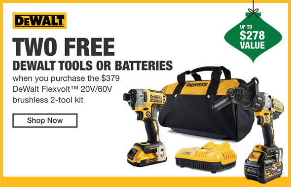 Home Depot Cordless Power Tools Holiday 2018 Tiered Savings Event Dewalt Promo 2
