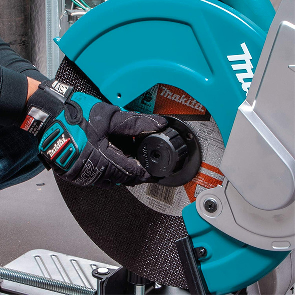 Makita Cordless Chop Saw Tool-Less Flange Removal