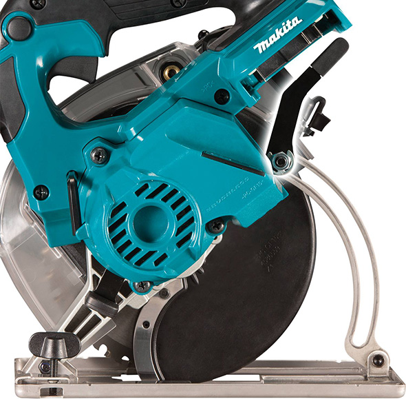 Makita XSC04Z Cordless Metal-Cutting Circular Saw Side View