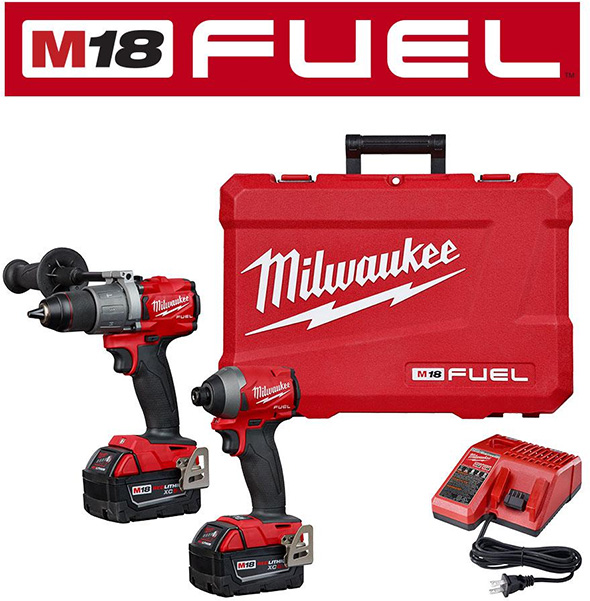 Milwaukee 2018 M18 Fuel Brushless Hammer Drill and Impact Driver Combo Kit