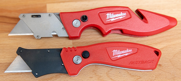 Milwaukee Compact Fastback Utility Knife vs Fastback Utility Knife