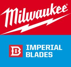 Milwaukee Tool and Imperial Blades USA Logos