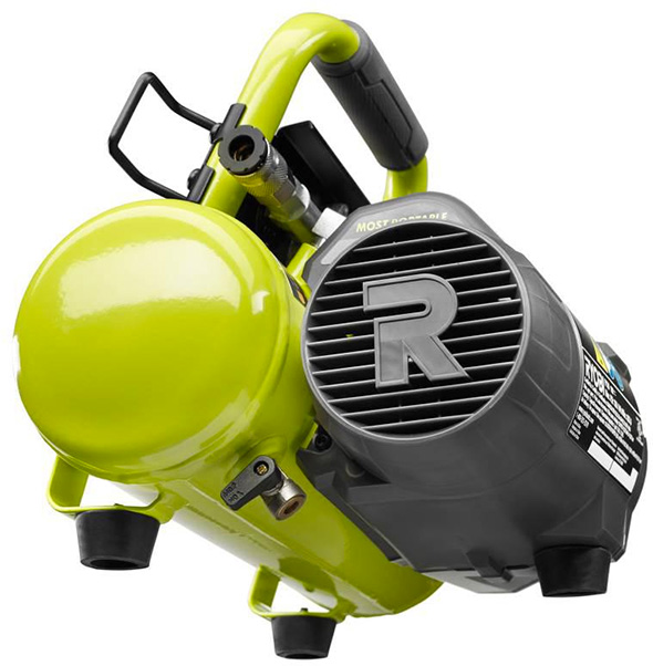 Ryobi Cordless Air Compressor Bottom and Side View
