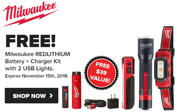 Tool Nut Milwaukee RedLithium LED Lighting Promo