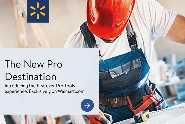 Walmart Pro Tools Experience Splash