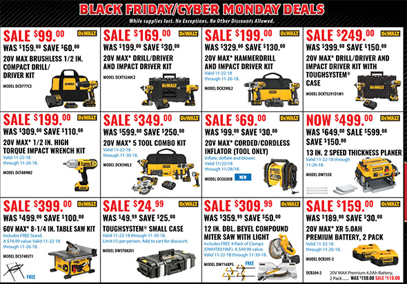 Acme Tools Black Friday 2018 Tool Deals Page 2