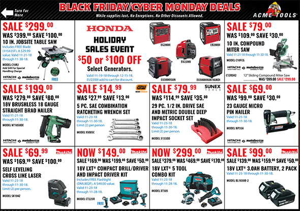 Acme Tools Black Friday 2018 Tool Deals Page 4