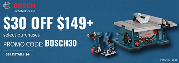 Acme Tools Bosch Holiday 2018 Promo