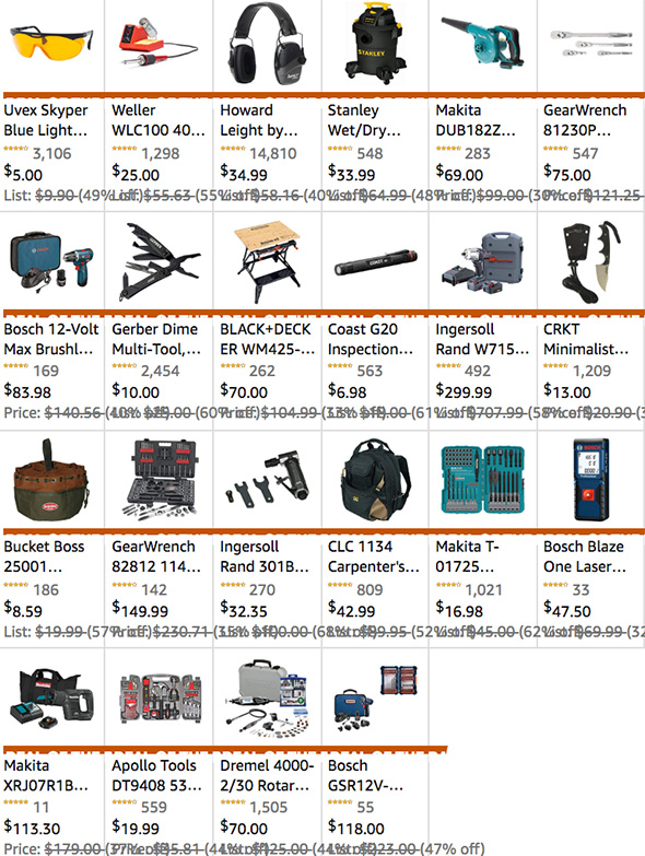 Amazon Cyber Monday Tool Deals 2018