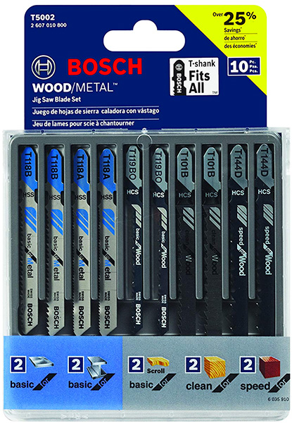 Bosch Jig Saw Assortment 10pc
