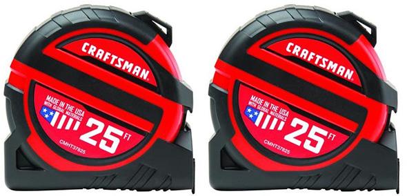Craftsman CMHT82600Z Tape Measure 2-Pack Black Friday 2018 Deal