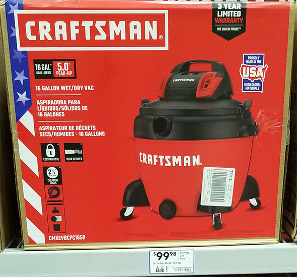 Craftsman Shop Vacuum at Lowes Holiday 2018