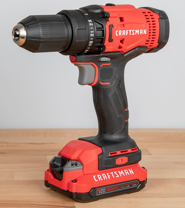 """Craftsman 20V 1//4/"""" Impact Drill Driver Kit with Slim Battery Pack and Carry Bag"""